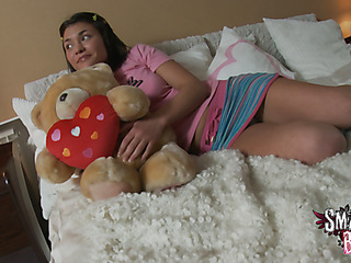 Melana is resting in the bedroom with a smile on her face 'coz her dude is coming over to give her youthful body the joy it needs. This Chab disrobes her with ease and after rubbing her love button a bit this chab makes the slut go down on him. This Guy wants a oral stimulation and that babe can give it. This Babe swallows his dick and after humping her face this guy switches to her vagina during the time that this babe holds a marital-device against her clitoris. The two of 'em are on cloud nine and the raunchy energyarousal is throughout the roof. ThatЄ??s when this chab pulls his dick from her muff and stuffs it into her butt. What a bad guy! This Guy starts humping her wazoo hard with his large 10-Pounder and this babe smiles and moans even louder. SheЄ??s an butt slut! ThereЄ??s some butt to mouth engulfing in there and the indecent whore gets fucked in several hawt poses previous to this chab jizzes on her pretty legal age teenager face.