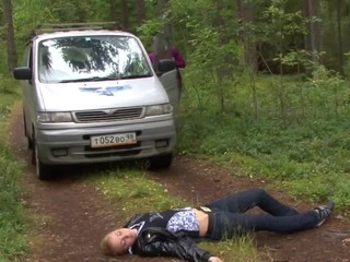 When this guy asked his girlfriend if this babe wanted to go camping with him this babe had no idea that babe'd end up getting fucked in a car and even right in the woods. This Babe had it all quite different in her mind, but when the guy started teasing her nipples and cookie this babe didn't push him away. Au contraire, this babe begged for him to fuck her harder taking his weenie in her constricted youthful cookie like a wild sex-hungry slut. What a great sex camping adventure!