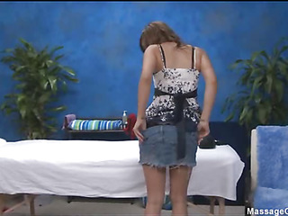 These 3 girls fucked hard by their massage therapist after getting a soothing rubdown