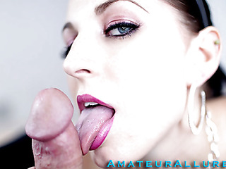 Racquel is a maid that breaks a vase and is in some serious trouble. that babe must engulf and fuck her boss so his wife won't find out and fire her. That Babe gives him a very wet and messy oral sex and this babe unfathomable mouths his knob like a pro.